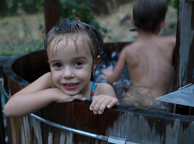 Hot tub kid
