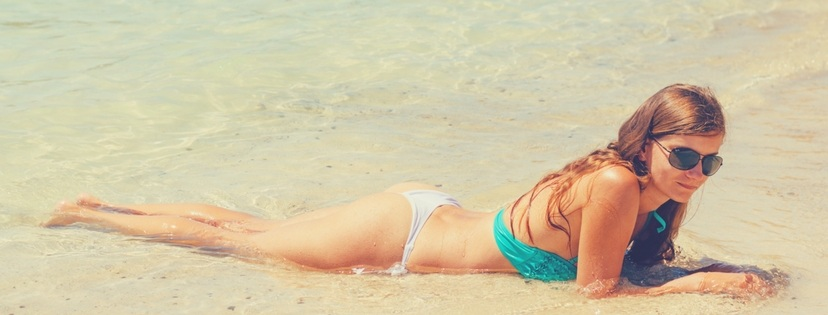 sexy girl relax on the beach