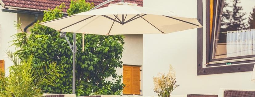 beautiful patio umbrella